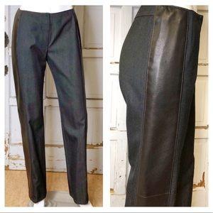 DKNY Denim/Leather Pants VTG EUC sz 8